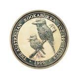1 face australienne de la pièce de monnaie 1999 de dollar en argent photo libre de droits