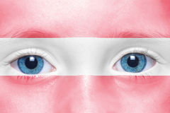 face with austrian flag Royalty Free Stock Photography