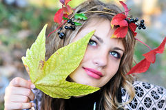 Face of autumn Royalty Free Stock Photography