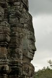 Face of Avalokitesvara in Bayon Temple, Cambodia Stock Image