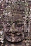 Face of Avalokitesvara in Bayon Temple, Cambodia Stock Photos