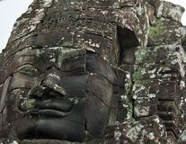 Face of Avalokitesvara in Bayon Temple, Cambodia Stock Photo
