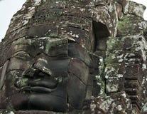 Face of Avalokitesvara in Bayon Temple, Cambodia Stock Photo