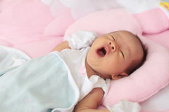 Face of baby infant wake up Royalty Free Stock Photography