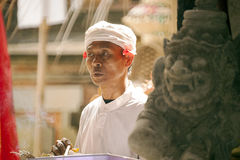 A face of Bali-Hindu monk Stock Image