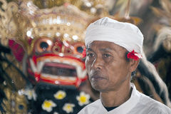 A face of Bali-Hindu monk Royalty Free Stock Photos