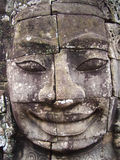 Face of Bayon. 1000 year old face found at the Bayon temple, Angkor Wat, Cambodia Royalty Free Stock Images