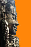 Face of bayon Stock Images