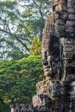 Face of Bayon temple, Angkor, Cambodia stock images