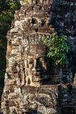 Face of Bayon temple, Angkor, Cambodia Royalty Free Stock Photos