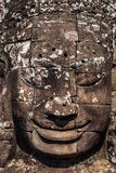 Face of Bayon temple, Angkor, Cambodia royalty free stock image