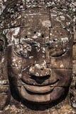 Face of Bayon temple, Angkor, Cambodia Royalty Free Stock Image