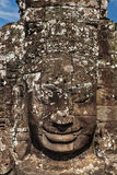 Face of Bayon temple, Angkor, Cambodia royalty free stock photography