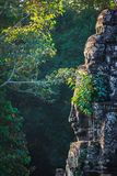Face of Bayon temple, Angkor, Cambodia Royalty Free Stock Images