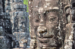 Face in bayon temple cambodia Royalty Free Stock Photos