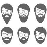 Face of bearded man - lumbersexual Royalty Free Stock Photo
