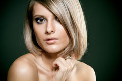 Face of a beautiful blond girl Royalty Free Stock Photography