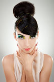 Face of beautiful  brunette woman Royalty Free Stock Photos