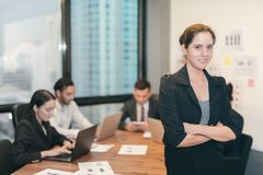 Beautiful business woman at office Stock Image
