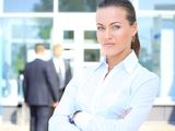 Face of beautiful businesswoman Royalty Free Stock Images