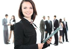 Face of beautiful businesswoman Royalty Free Stock Image