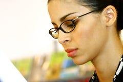 Face of beautiful businesswoman Stock Photos
