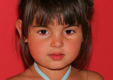 The Face Of A Beautiful Child Royalty Free Stock Photography