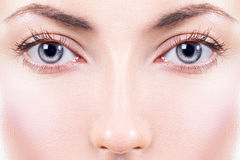 Face. Beautiful female eyes Royalty Free Stock Image