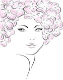 Face of the beautiful girl. Royalty Free Stock Photos