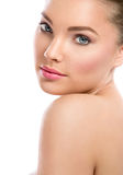 Face of beautiful girl with clean skin Stock Photography