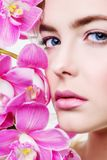 Face of beautiful girl Royalty Free Stock Images
