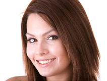 Face of beautiful smiling girl. stock image