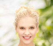 Face of beautiful smiling teenage girl Stock Photo