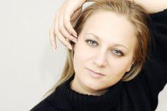Face of beautiful woman Stock Photos