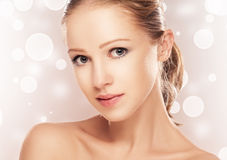 Face of beautiful woman Royalty Free Stock Photo