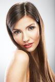 Face of beautiful woman close up portrait. Royalty Free Stock Images