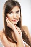 Face of beautiful woman close up portrait. Stock Image