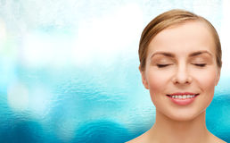 Face of beautiful woman with closed eyes Royalty Free Stock Photography