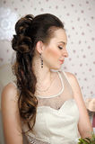 Face of beautiful woman with fashion hairstyle Royalty Free Stock Photos
