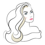 Face of beautiful woman. Royalty Free Stock Image