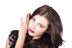Face of a beautiful woman. Perfect beauty makeup Stock Photography