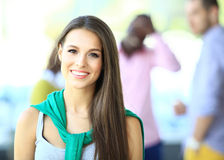Face of beautiful woman Stock Images
