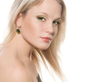 Face of a beautiful young blonde girl Royalty Free Stock Photography