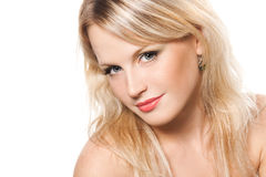 Face of a beautiful young blonde girl Stock Image