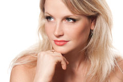 Face of a beautiful young blonde girl Royalty Free Stock Photos
