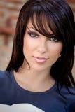 Face of beautiful young cute woman stock photos