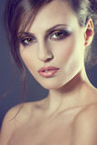 Face of a beautiful young girl royalty free stock image