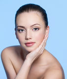 Face of beautiful young woman Royalty Free Stock Photo