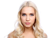 Face of beautiful young woman Royalty Free Stock Photography