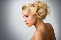 Face of beautiful young woman Stock Image